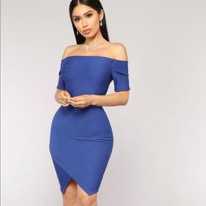 Fashion Nova Made For You Dress - Royal NWT